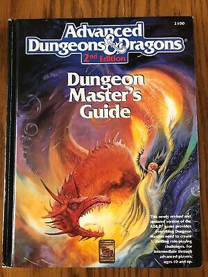 EXC! Dungeon Master's Guide 1989 1st print Dungeons & Dragons 2nd Ed HB