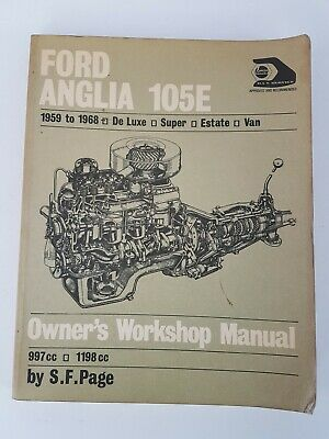FORD ANGLIA 105E HAYNES MANUAL 1959 to 1968  De LUXE SUPER ESTATE VAN