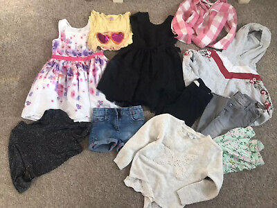 Girls Clothing Bundle Age 5-6 Yrs - Dresses, Jeans, Tops - Rocha, Next, H&M
