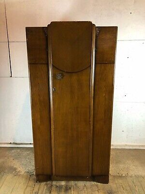 Vintage 1940's Bescraft Double Wardrobe - Wood Veneer, No Lock