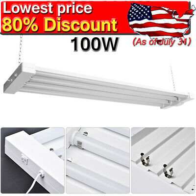 4Pcs 48W 4FT LED Shop Light Garage Workbench Ceiling Lamp Linkable Workplace US