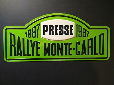Plaque rallie Monte-Carlo 1987