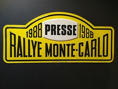 Plaque rallie Monte-Carlo 1988