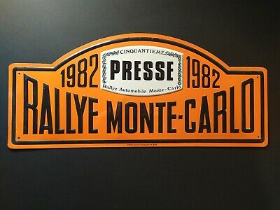 Plaque rallie Monte-Carlo 1982