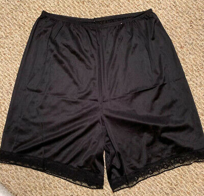 Vrg Vanity Fair Black Soft Nylon Bloomers Granny Panties Underwear Size Large