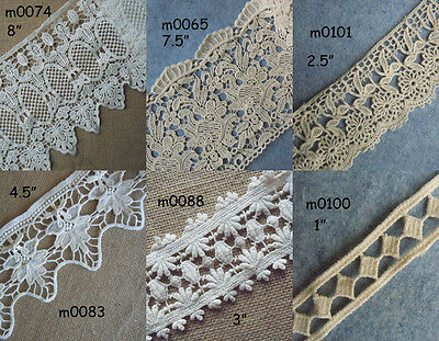 6 Pattern 2 Yards or 3 Yards Vintage Cotton Crochet Trims Lace zhm5