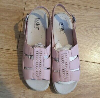 Hotter Candice pink leather sandals shoes Original Box Worn Once Size UK 6 EU 39