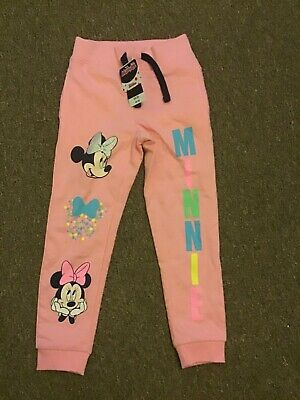 Brand New Girls Minnie Mouse Tracksuit Bottoms Size 4-5 Years