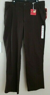 NWT Lee Womens Brown Comfort Fit Straight Leg Stretch Brown Pant size 16