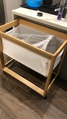 baby bassinet wooden with wheels