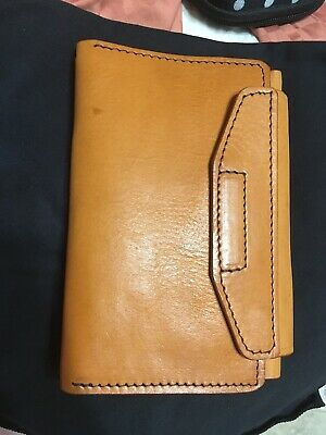 Apple Pig Authentic Leather Mix Travelers Wallet 3 Notebook Personal Size