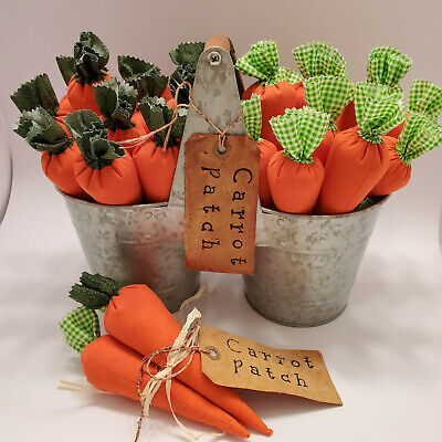Set 3 Carrots Bunch Bundle Bowl Fillers Country Easter Kitchen Home Decor