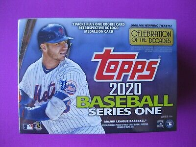 2020 Topps BASEBALL Series 1 Sealed BLASTER BOX, LOOK for RCs', Autos, Refs, Etc