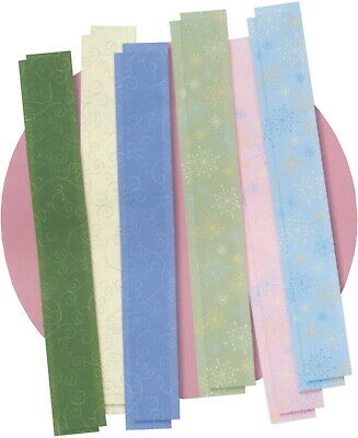 "Creative Memories Great Lengths 1½""x12"" Vellum Paper Strips Pack Whimsy 12/pk"