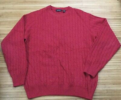 Mens Barneys New York Red Wool/Cashmere Sweater size Medium Made In Italy