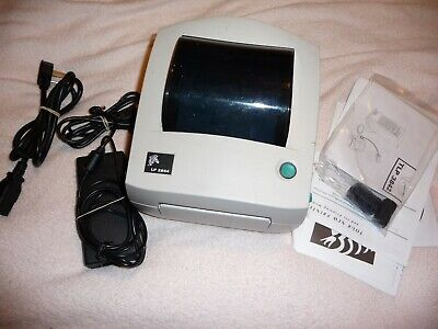 Zebra LP2844 Thermal Printer - Excellent Used Condition - uses no ink!
