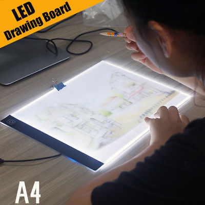 A4 LED Artist Stencil Drawing Board Light Box Tracing Table Pad Board XMAS Gift