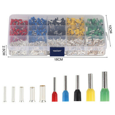 1640Pcs Copper Silver Plated Terminal Combination Set Cold Pressed Terminals DF