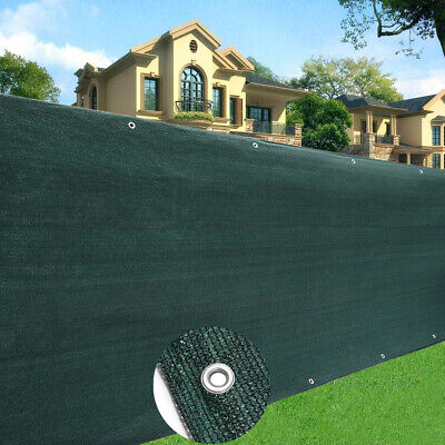 Commercial 220GSM Green Fence Privacy Screen Windbreak Cover Shade Tarp Netting