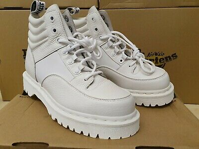 Dr. Martins Ladies ZUMA White Aunt Sally Leather Hiker Boots, UK Size 6.5