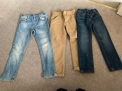 3x Boys 4-5 Years Jeans Trouser Bundle Chino Next F&F Etc