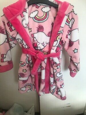 Young Girls Pink  DESPICABLE ME Unicorn House Coat Size 7 Years