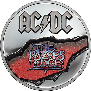 Cook Islands 2019 10$ AC/DC - The Razors Edge 2 Oz Proof Silver Coin