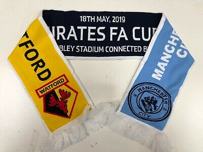 Watford FC Vs Manchester City FC FA Cup Final 2019 Scarf - New