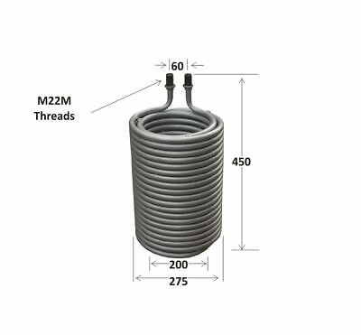 Pressure Washer heater coil compatible with Karcher HDS 580, 610, 650 etc