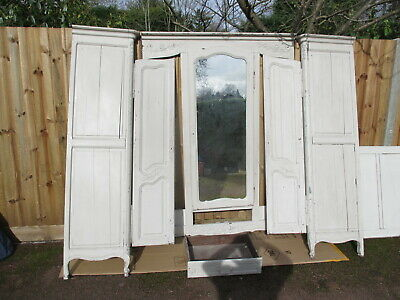 Another French wardrobe, armoire, triple door, centre mirror, can deliver nearby