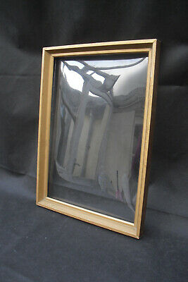 Rare hard to find convex curved glass picture frame for 3d framing