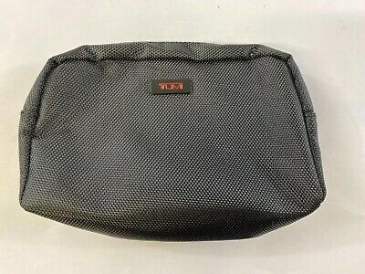 TUMI for Delta Black ZIP Pouch Soft Sided Travel Case Toiletries Makeup Bag