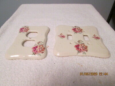 Vintage Porcelain Switchplate and Outlet Cover Athena California