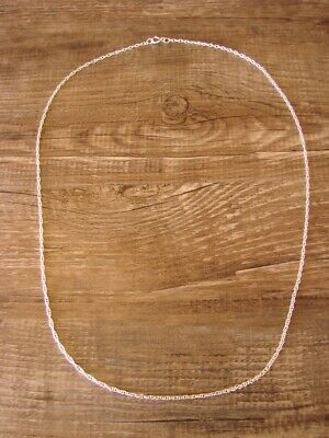 """Southwestern Jewelry Sterling Silver Rope Chain Necklace 20"""" Long x 1 MM"""