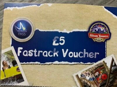 Alton Towers fastrack voucher £5 worth