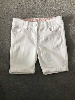 Matalan White Denim Girls Shorts - Age 3 Years - New Without Tags