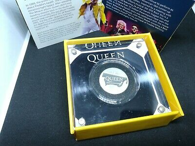 Queen 2020 Royal Mint Silver Proof One Ounce Coin ERROR MULE Alloy 925 Ag