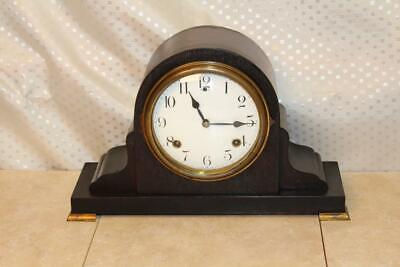 Antique Sessions 8 Day Time and Strike Mantle Clock ~Serviced~
