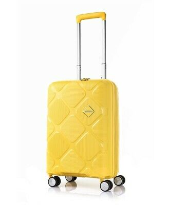 American Tourister Instagon 55cm Small 4 Wheel Hard Suitcase Lemon