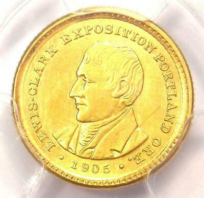 1905 Lewis & Clark Gold Dollar G$1 - Certified PCGS AU Detail - Rare Coin!