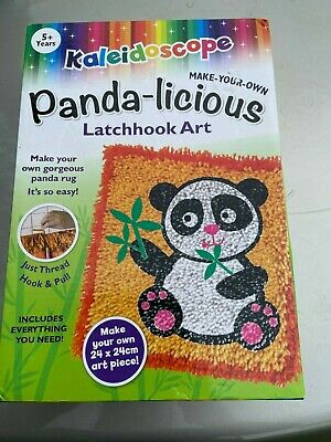 hunter leisure kaleidoscope panda-licious latchook art kit new free post (acc83)