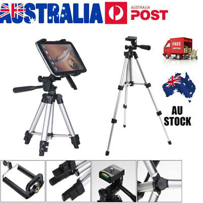 Adjustable Tablet Tripod Stand Mount Holder for iPad Air2/Pro/4/3/2 AU 7-14 Inch