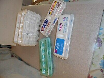 Lot of 17 Empty Styrofoam Egg Cartons Dozen Count For Crafting Projects