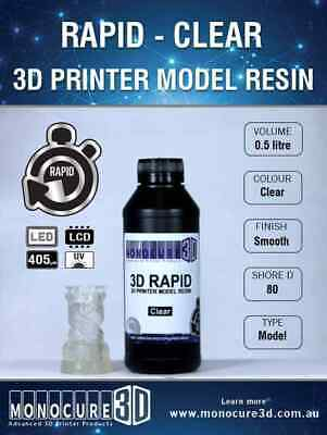 MONOCURE 3D RAPID RESIN for 3D PRINTING - CLEAR (0.5 Ltr)