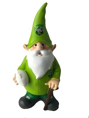 Canberra Raiders NRL Trackie Wearing Garden Gnome With Walking Cane