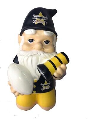 North Queensland Cowboys NRL Kneeling Garden Gnome with Solar Powered Torch