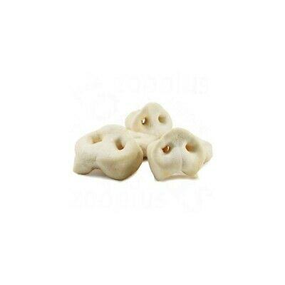 White Puffed Pig Snouts Dog Treat Chew (Choose you Size)