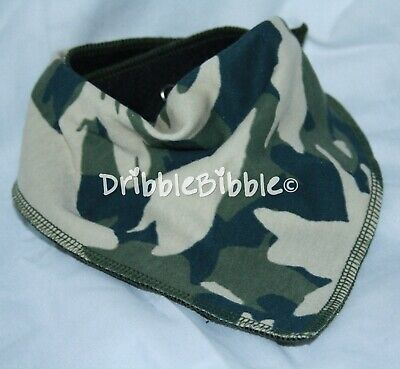 ❤ Special Needs Disabled Dribble Bib Bandana Teen Dog Medium ❤ L Green Camo ❤