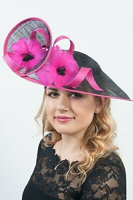 Large Sinamay Hatinator Fascinator Ascot Hats Mother of the Bride Hat RRP £85