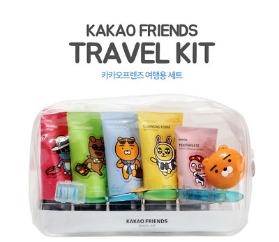 kakao freinds Travel kit cleansing shampoo bodywash toothpaste toothbrush